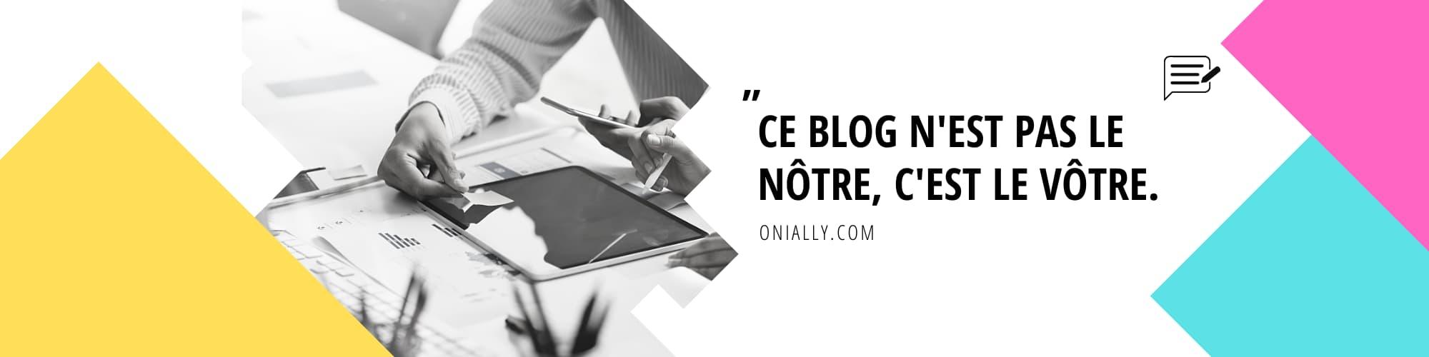 bannière blog onially